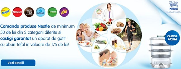 Aparat de gatit cu aburi Tefal, gratuit la Carrefour Online