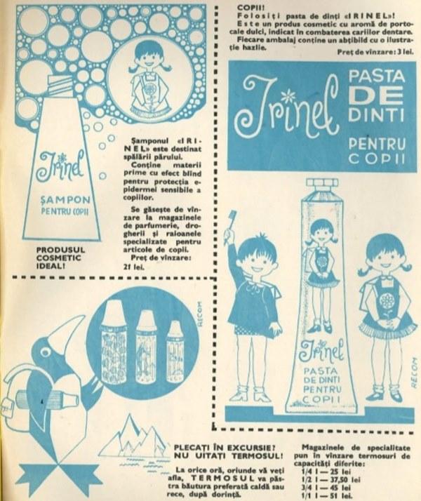 Irinel - Pastă de dinţi şi Şampon pentru copii
