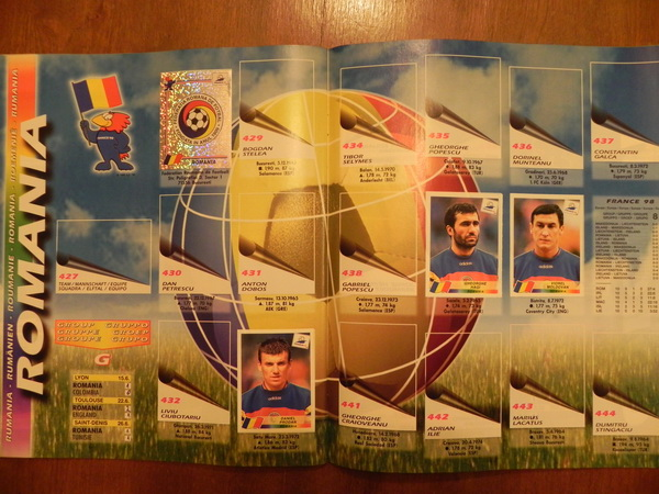 Album World Cup France 98 - Romania