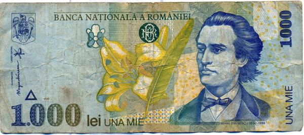 Bancnotă de una mie lei (1998)