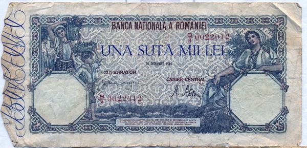 Bancnotă de una sută mii lei (1946)