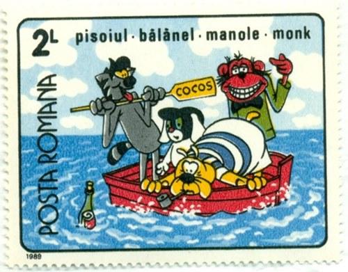 Timbru: Pisoiul, Bălănel, Manole, Monk