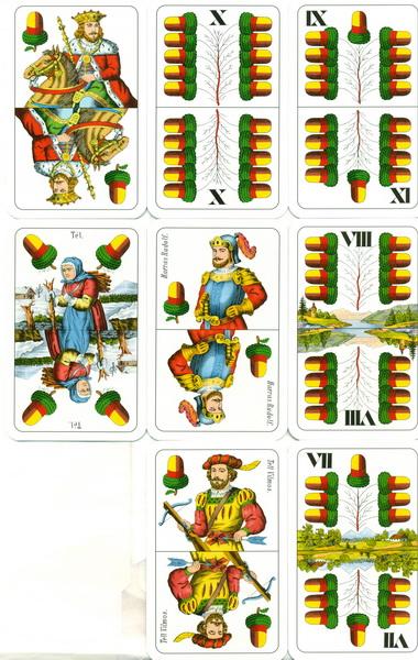 Cărţi de joc ungureşti - Ghindă