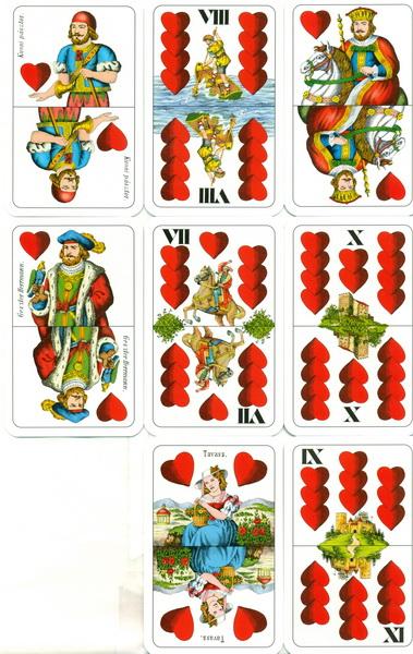 Cărţi de joc ungureşti - Roşu