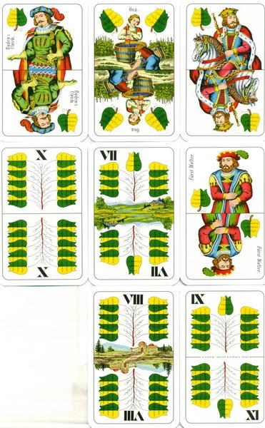 Cărţi de joc ungureşti - Verde